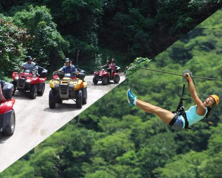 atv tour and canopy tour combo